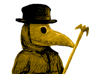 brown plague doctor