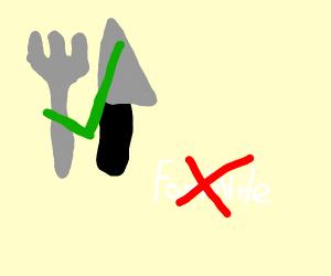 Fork Knife > Fortnite
