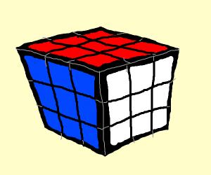 Finished rubiks cube