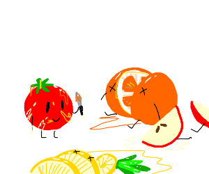 tomato kills pineapple;orange and apple