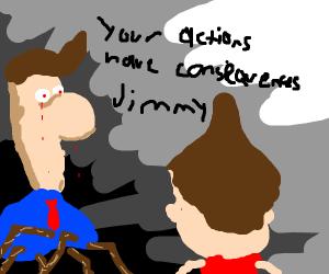 im gonna kill you jimbo - jimmy nuetron's dad