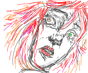 beautiful redhead with heterochromia
