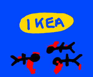 Men are dying in front of IKEA