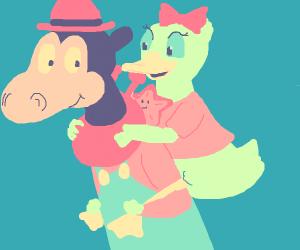 Peach and Daisy horseback riding