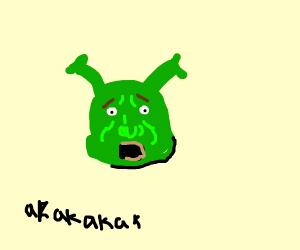 Shrek screams