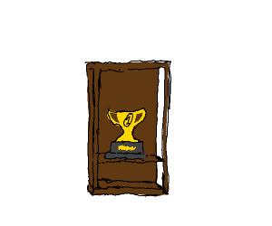 A trophy in a trophy case