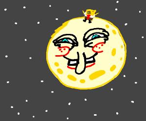 spongbog on the moon