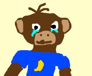 Sad monkey man??