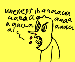 Adventure Time lemon man has a nosebleed