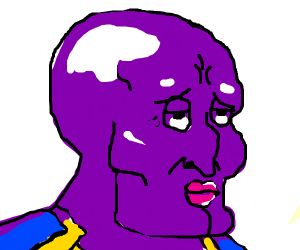 thanos but he's handsome squidward