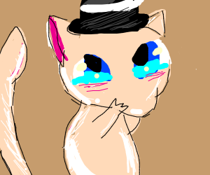 Mew in a hat