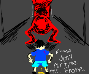 guy scared of phone pees himself