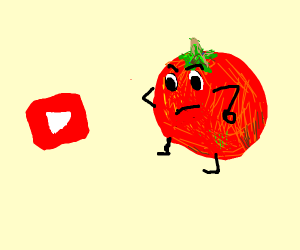 Tomato disaproves of youtube