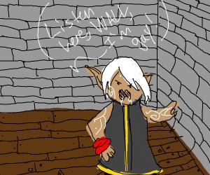gay man yells at wall