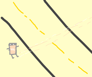 Yogurt crossing the Road