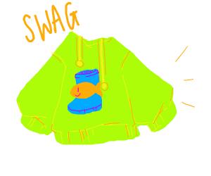 Swag green fishy bootkins I hoodie