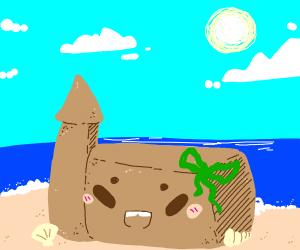 Kawaii sandcastle