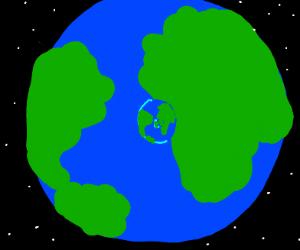 Earth inside an Earth inside an Earth
