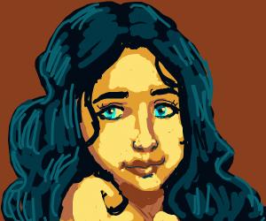Bright-blue eyed girl