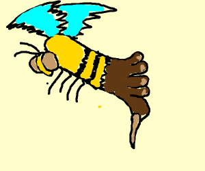 Bee crossed with Foot