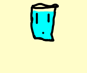 Water in glass is alive