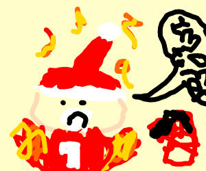 Santa caught on fire