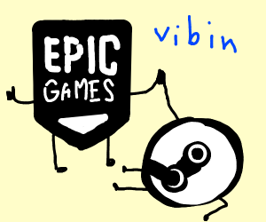 Epic games and Steam hanging out