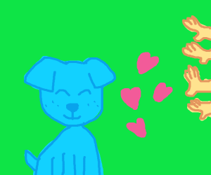 Blue dog deserves all your love