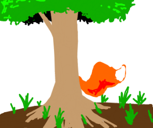 tree but has a fox tail