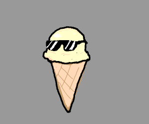A cool ice-cream