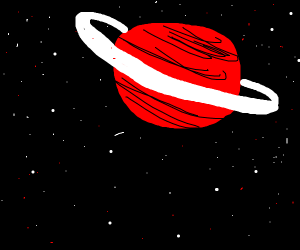 Saturn starts to turn red