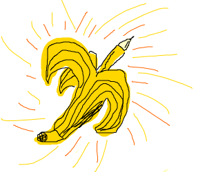 Pencil in a banana
