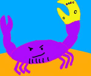 Thanos as a spider/crab creature