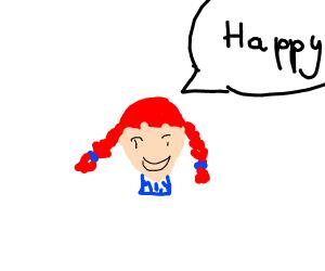 Wendys Lady says Happy