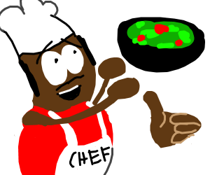 Chef likes tossing salad