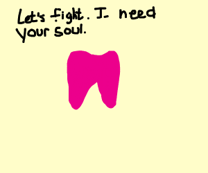 Mettaton as a tooth
