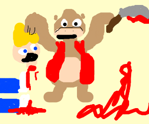 Donkey Kong likes beheading people