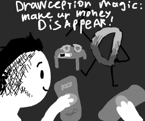 Drawception magic: make your money DISAPPEAR