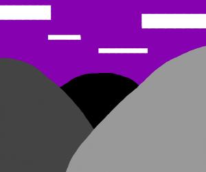 Minimalistic mountain range