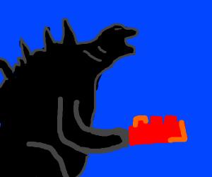 Godzilla Playing