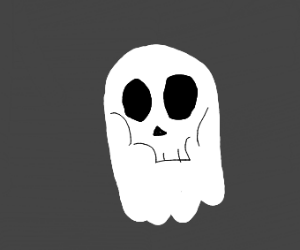 Ghost with zombie face