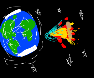 Pizza comet's about to hit Earth!