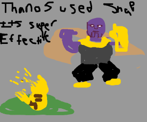 thanos uses snap!