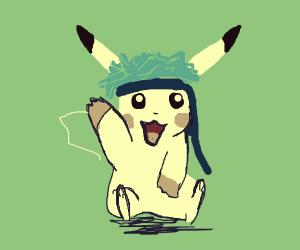 Pikachu with cool hairdo, bandanna & gloves