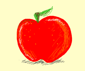 A Slightly More Detailed Red Apple