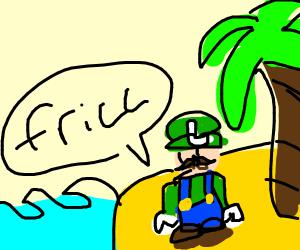 luigi on a deserted island