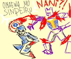 Captain America decapitates Thanos