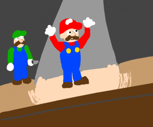 luigi wants to be in the spotlight too
