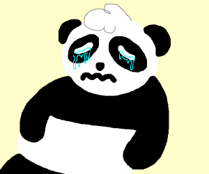 Panda is sad