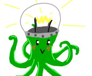 light bulb alien